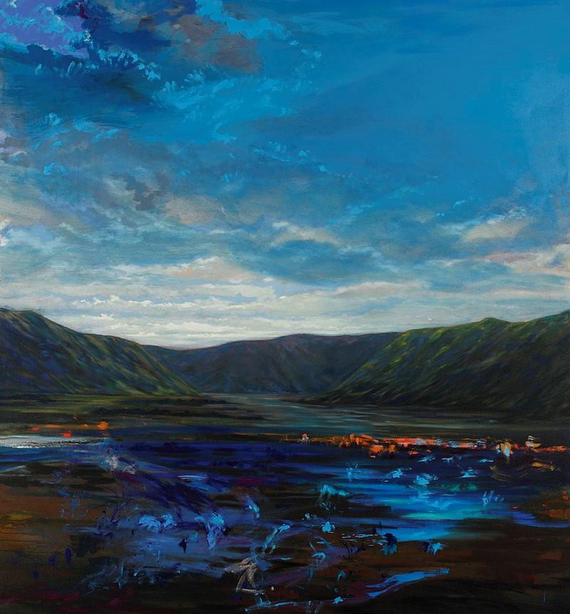 Rangitata Valley. Huile sur toile - 230 x 210 cm - 2010 - Collection particulière