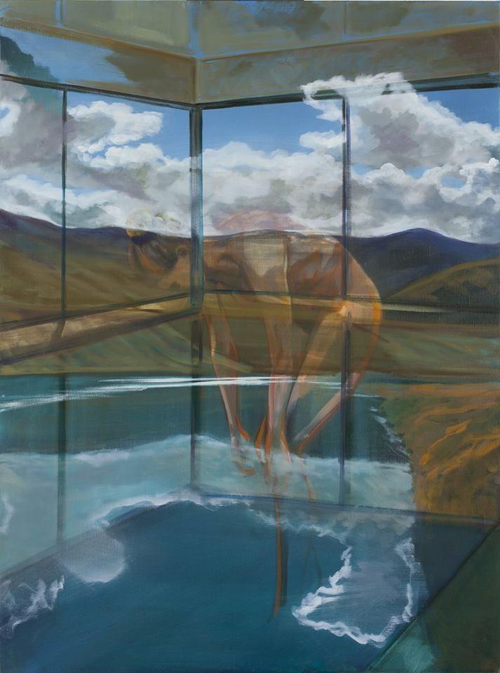 Les baigneuses. Huile sur toile - 130 x 100 cm - 2017