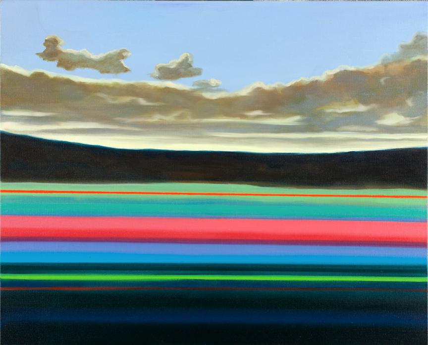 Lignes. Huile sur toile - 81 x 100 cm - 2017 - Collection particulière