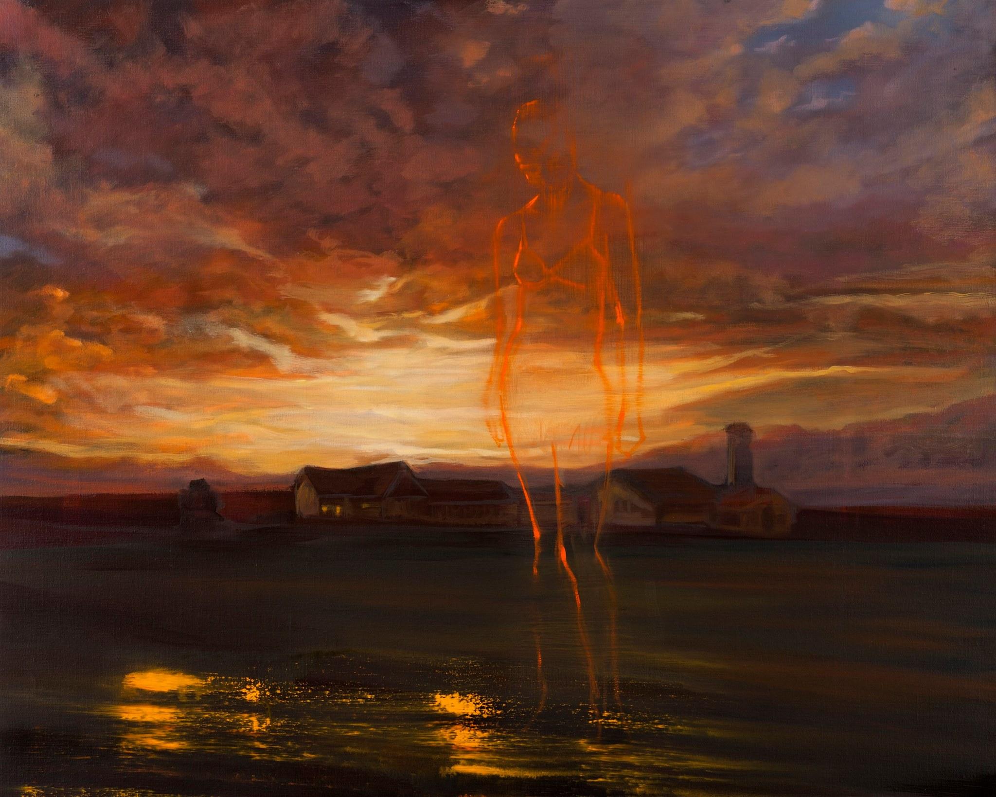 Sunset Diane. Huile sur toile – 73 x 92 cm – 2015